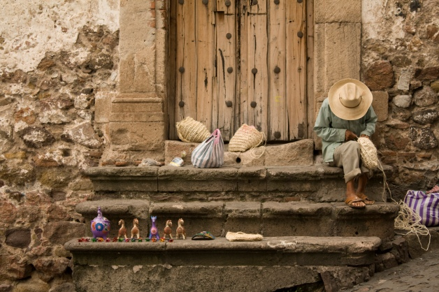Craftsman in Taxco, Mexico.